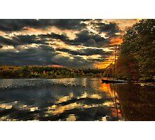 Colorful lake Waban Photographic Print