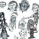 Cartoon Collection Pencil Drawings 2011 by Grant Wilson