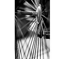 Bike Spokes Photographic Print