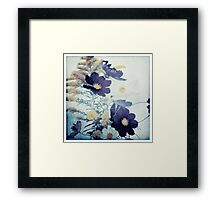 Bouquet in Cyan and Yellow Framed Print