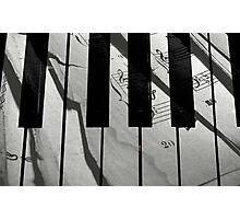 Piano Notes © Photographic Print