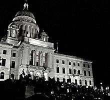 Occupy Providence at the Rhode Island State House by Jack McCabe