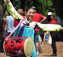 Korean drum dancer by Martina Nicolls