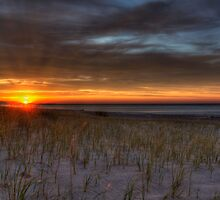 Grand Marais Beach at Sunset  by Megan Noble