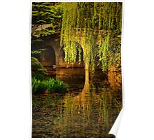 Reflections on Garden Pond Poster