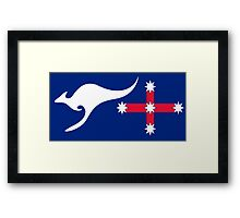 New Australian Flag Design - AFL1 Framed Print