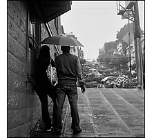 Lombard Street Rainy Day #1 Photographic Print