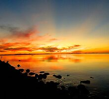 Sunset at Salt Lake by JoAnn Glennie