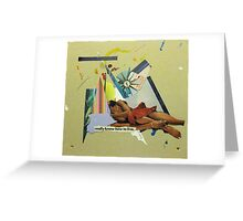 know how to live Greeting Card