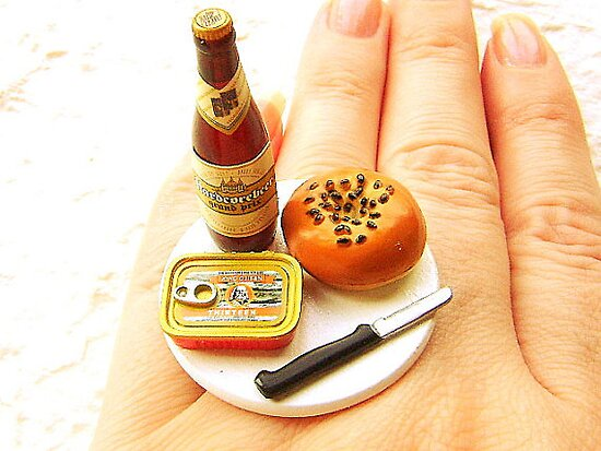 Beer and Bagel Ring by souzoucreations