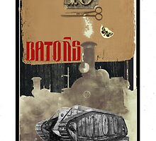 Dada Tarot- 10 of Batons by Peter Simpson