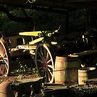 Old Farm Cart in Barn by SteveFinch