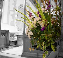 Floral Display All Saints Church, Hollingbourne by Dave Godden