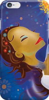 Ophelia iPhone Case by KenRinkel