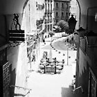 Archway - Exit from the Plaza Mayor, Madrid. 2004 by Igor Pozdnyakov