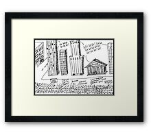 Occupy Wall Street as Bankers LOL Framed Print