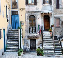 Stairs and Doorways-Vasanello, Italy by Deborah Downes