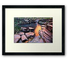 A View of Eden - Weano Gorge - Karijini NP Framed Print