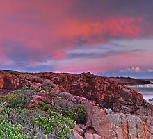 Boat Harbour Sunset Panorama by bazcelt