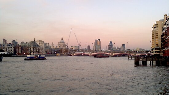London Skyline in Evening by Jack McInally