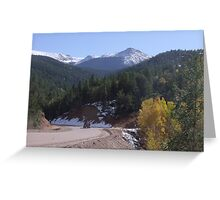 Cripple Creek after first snow fall Greeting Card