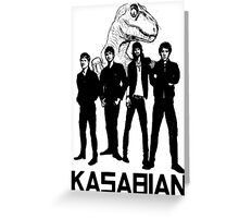 Kasabian - Velociraptor Greeting Card