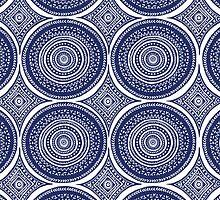 Blue Paisley Pattern by Wealie