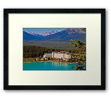 Canada. Lake Louise. Chateau Lake Louise. Framed Print