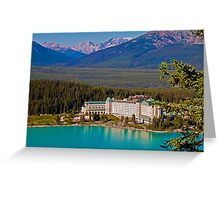 Canada. Lake Louise. Chateau Lake Louise. Greeting Card
