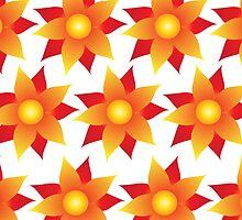 Firery Pinwheel Pattern by Wealie