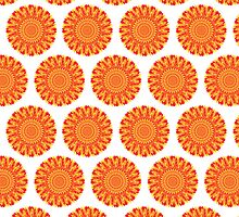 Firery Flowers Pattern by Wealie