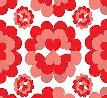 Heart Fan Flower Pattern by Wealie