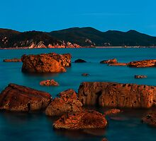 moon over Rocky Cape by Kip Nunn