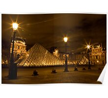 Louvre at night Poster