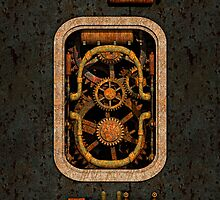 Infernal Steampunk Machine #1 iPhone case by Steve Crompton