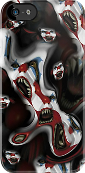 Evil Clown Iphone Case by ALIANATOR