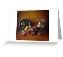 PEWTER IN GOLD Greeting Card
