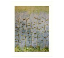 The Dancing Cabbage Weeds Art Print