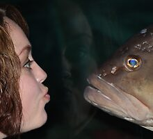 Grouper  Fishy Kiss!!! by rasnidreamer