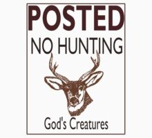 No Hunting Kids Clothes