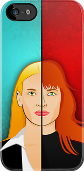 Olivia VS Fauxlivia iPhone Case by Tom Trager
