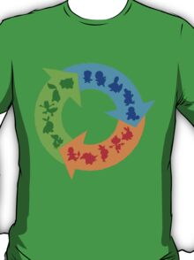 Starter Pokemon Type Shirt T-Shirt
