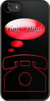 ring ring - phone, sticker, tee by vampvamp