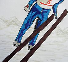 The Ski Jump by GEORGE SANDERSON