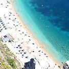Beach from above by Fay  Hughes