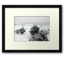 Snowy Rolling Fields, Petworth. Framed Print