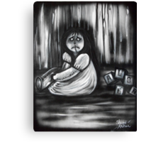 Girl In The Little White Nightgown Series 1- Alone Canvas Print