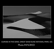 CURVES IN THE SAND, GREAT SAND DUNE NATIONAL PARK, CO. by PhotoIMAGINED