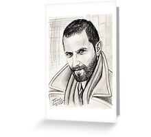 Richard Armitage in coat Greeting Card