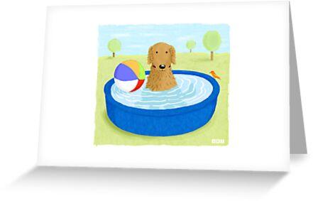 Kiddie Pool Dog by Jenn Inashvili